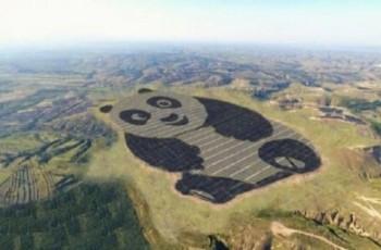 Chińczycy wybudowali farmę słoneczną w kształcie pandy